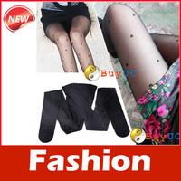 Fashion Black Women Pretty Peach Heart Style Pattern Jacquard Pantyhose Tights