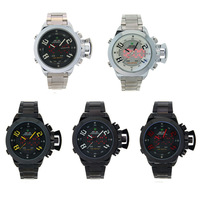 WholesalePro Mens Weide Dual Time Water Resistant Japan MOVT LED Sport Watch Free Shipping