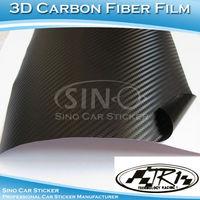 SINO CAR STICKER 1.52x30M 5FTx98FT Free Shipping Hiqh Quality TR1 Black 3D Carbon Fiber Film