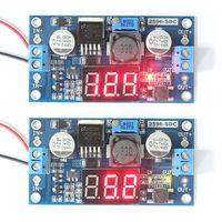 DC 4.0-40V to 1.25-37V 5/12V  Buck Converter Regulated Power Supply Adjustable Module  Voltage Meter Step down Coverter