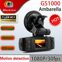 "Ambarella Car DVR Full HD 1080P 30FPS GS1000 1.5""LCD Car Camera Recorder with GPS logger G-sensor H.264 4 IR light"