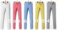 2013 Bright Colors Holiday Sale Women  Pencil Pants, Skinny Pants/Spring /Fall Slim candy colors jegging, 5 size Free Shipping
