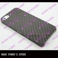100% real carbon fiber case for mobile *phone 5/ Slim Cover Hard Back Fiber mobile  phone Genuine