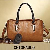 2014 Fashion CHISPAULO brand bag Genuine Leather handbag women leather handbags Shoulder Bag women messenger bag Sales promotion