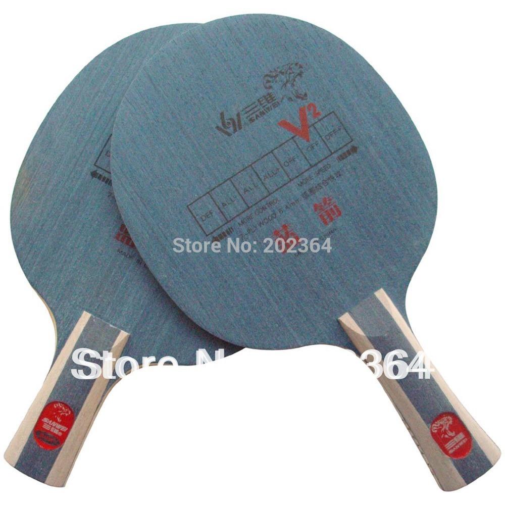 Sanwei V2 Blue Arrow (V-2, V 2) Attack-Loop OFF Table Tennis Blade for PingPong Racket(China (Mainland))