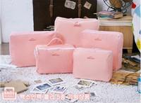Free shipping Travel Storage Bags High Quality Fashion 5Piece Coloth Storage Bags 4 Colors Home Vacuum Storage Set bag