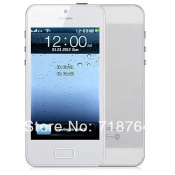 Free Shipping i5 H5 TV WIFI Phone dual sim Quadband Mobile Phone 4.0 inch cell phone