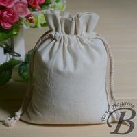 Hand-made Cotton drawstring bag gift bag packing bag 100% natural cotton fabric eco friendly free shipping