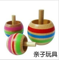 Free shiping!! wooden toys woody puddy spinning top rotating multicolour baby toys children toys