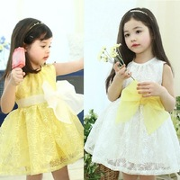 New Girls dresses Big Flower girls clothes Cotton Dresses ,4pcs/lot