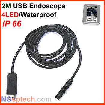 Free shipping,New Arrival Mini USB 2.0 Waterproof Endoscope Borescope Snake Inspection Camera 2M