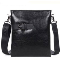 2013 Shoulder Casual designer Black color Genuine Leather Messenger bag Fashion Mens bag of Body bag Danjue D8005