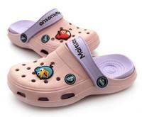 Wholesale 12pairs/lot Summer Fashion Kids Garden Cartoon EVA Shoes/Children Beach clogs Sandals Slippers  3 colors Y112