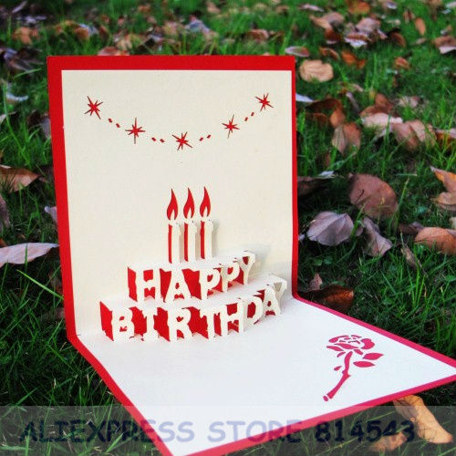 Birthday Card With Candle Car Tuning