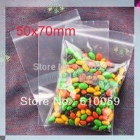 Free shipping 50 x 70mm retail plastic ziplock bag zipper bag