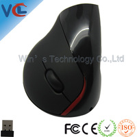 2.4G Wireless Vertical Ergonomic Health Mouse Digital Games Mice USB Receiver Free Shipping