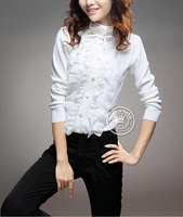 2013 New fashion Spring Sweeter, Mandarin Collar Full Sleeve, Free shipping C2524