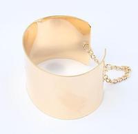 metal open cuff bangle bracelet 2013 jewelry wholesale fashion statement plain bangles for women