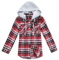 Wholesale 4 pcs Spring Autumn green blue Children Child boy Kids baby long sleeve hoody hooded cotton shirt shirts top PECS03P09