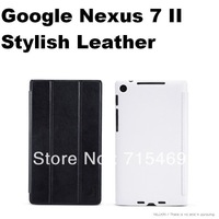 Auto sleep wake up for Google Nexus 7 II Stylish Leather Case Nillkin case for Screen protector  for free HK ship