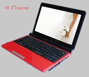 "10.2"" Cheap Student Computer Mini Laptop  D2500 1.6GHz  2G/160G,WiFi,RJ45 Port,Camera,Birthday Gift"