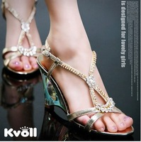 2013 newfemale Kvoll Summer wedges platform women pumps crystal shoes sweet diamond rhinestone high heels wedding woman shoe