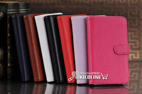 10pcs/lot Litchi Leather Case Cover With Card Slots Stand For LG E960 Nexus 4