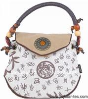 Hot free shipping Chic floral printing handbag 2013 national flavor