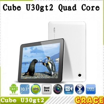 "New Arrival !!!10.1"" Cube U30gt2 Quad Core Tablet PC FHD IPS Retina 1920x1200 Capacitive Screen RK3188 Android 4.1 Wifi HDMI 32G"