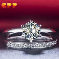Free shipping highest quality simulate diamond wedding band ring set,bridal set, silver 925 sets for women, birthday gift!