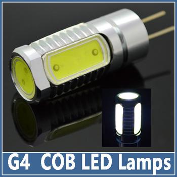 5x Mini G4 COB LED lamp 7W Crystal Spotlight Pendant Indoor Lighting DC12V refrigerator light Indicator Desk Bulb Chandelier