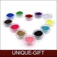 Rosalind Wholesale! Hot sell 12 Color Velvet Flocking Powder Velvet Manicure Nail Art Polish Tips