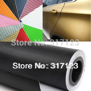 """Livraison gratuite 1.27x0.3meter 3d en fibre de carbone en fibre de carbone vinyle autocollant( 50x11.8""""/127x30cm) 13 option de couleur autocollant de voiture"""