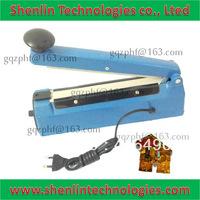 Manual bag sealing tool,electrical handheld package sealer,plastic shell impulse packaging equipment,economic machine CE,200mm-P