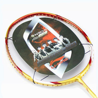 Free Shipping, Lining badminton racket  N90-II Unstring, with varieties of gifts, 5pcs/lot, Gold color, high end lining racket