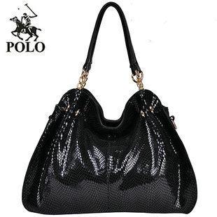 Promotion 2013 HOT WEIDIPOLO brand women handbag Snakeskin Genuine leather women messenger bag design shoulder bag freeship86234