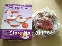 5pcs Ceramic pan set frying pans ceramic coating inside as seen on TV