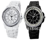 100% Genuine Luxury Brand Ladies Quartz Watch Women Rhinestone Watch Bracelet Wristwatches Steel Strap Dress Watch Free shipping