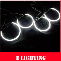 Free shipping Warm White CCFL LED Angel Eyes Kit for BMW E46 Non-projector Car Headlight with 4 ccfl rings ad 2 ccfl inverters