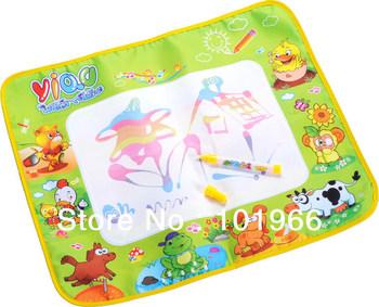 10PCS/Lot Hot Russian Package 58*48cm Animal Style Kids Drawing Mat,Aqua Water Doodle Mat Water Magic Doodle Drawing Toys