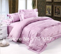 Free shipping! Queen &King size 4pcs Luxury wedding bedding set