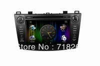 FREE SHIPPING!2012 MAZDA 3  Car DVD GPS system  with UI+PIP+GPS BT TV USB SD IPOD RDS AUX IN, CANBUS,steering wheel control