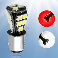 4pcs 1157 BAY15D 18 SMD Red White CANBUS OBC No Error Signal P21/5W Car 18 LED Light Bulb V4 12V p21/5w led