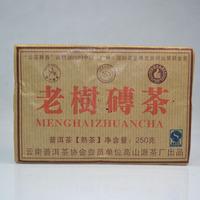250G Chinese Ripe Old Tree Puer Tea  Yunnan Brick Tea, Compressed Tea,Kungfu Black Tea  Freeshipping