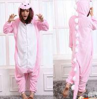 Newest Design Adult Animal Anime   Pink  Dinosaur Cosplay Costume, Onesie Pajamas Size M L XL XXL