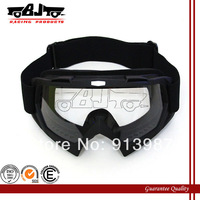 BJ-MG-001 Black Adult Motorcycle Motocross Bike Cross Country Flexible Goggles Clear Lens