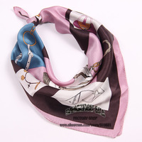 2014 brand new  silk satin zig zag scarf  pink bag scarf 2014 brand headband free shipping