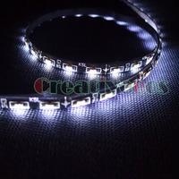 "2Pcs 60CM 24"" Car 12V 60LEDs SMD 335 Side-emitting Side Glow Shine Flexible LED Strip Light"