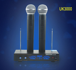 Hot Sale UK3000 VHF Handheld Headset Mic Professional Wireless Microphone Teaching KTV DJ Karaoke Meeting(China (Mainland))