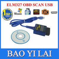 Vgate USB ELM 327 ELM327 OBD2 OBD-II OBD 2 OBD II USB Car ECU Diagnostic Scanner Adapter Car code scanner reader Tester